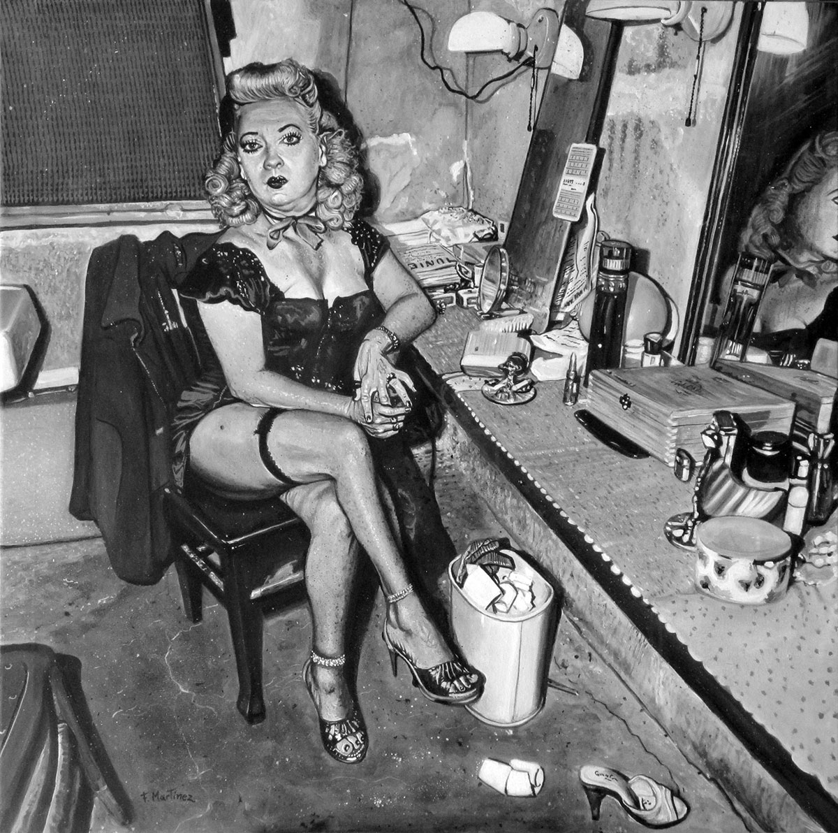 ©Fernando Martínez Campello - Burlesque Commedienne in her dressing room - enkil.org
